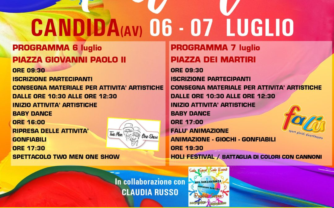 """"""" Color Festival"""" a Candida (AV) 6-7 luglio 2019"""