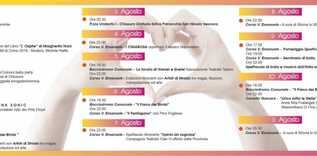 """"""" Savignano Village"""" Estate 2019 a Savignano (AV) dal 26 luglio all'11 agosto 2019"""