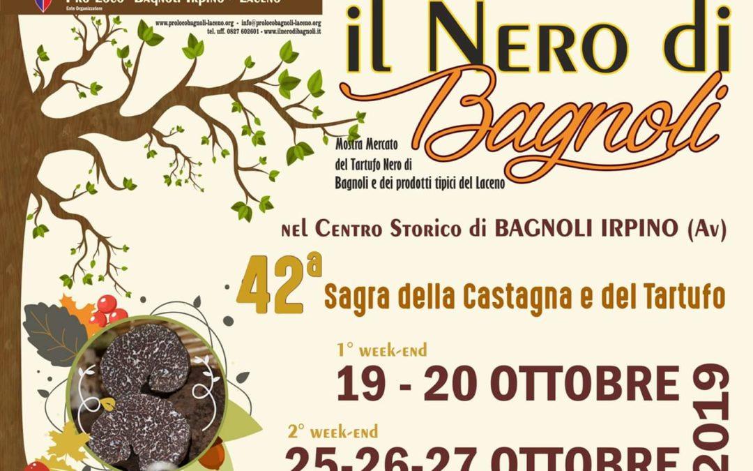 42° Edizione della Sagra della Castagna e del Tartufo Nero a Bagnoli Irpino (AV) 19-20 ottobre 2019/ 25-26-27 ottobre 2019