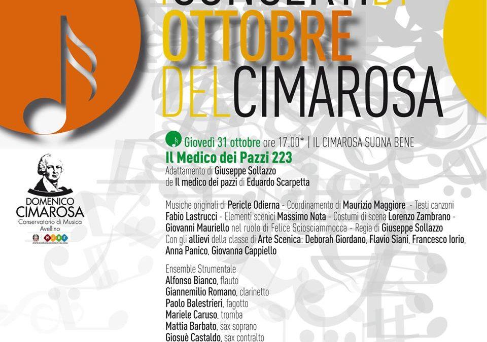 """""""I Concerti di Ottobre del Cimarosa"""" ad Avellino il 31 ottobre 2019"""