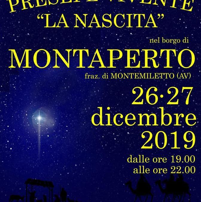 """""""Presepe Vivente"""" il 26-27 dicembre 2019 a Montaperto fraz. Montemiletto (AV)"""