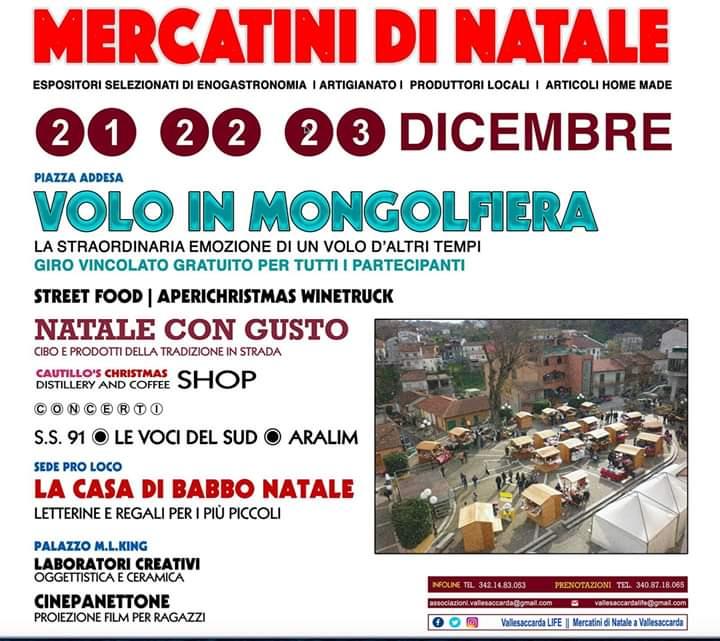 Mercatini di Natale a Vallesaccarda (AV)- Vallesaccarda Life