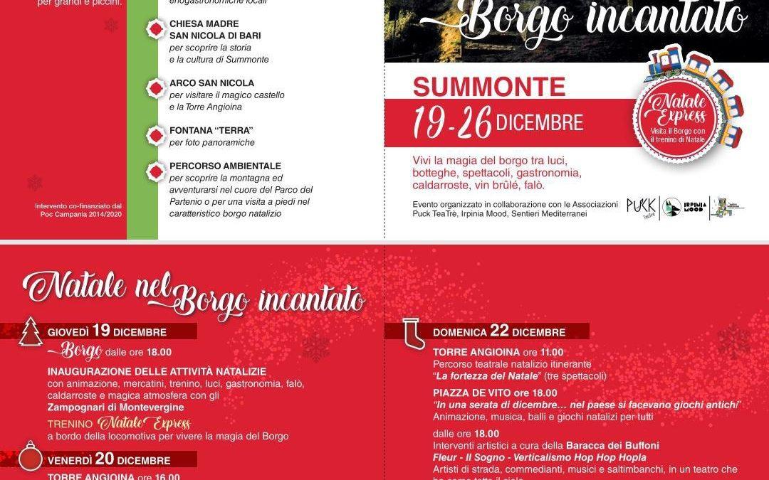 """""""Natale nel Borgo Incantato"""" dal 19 al 26 dicembre a Summonte (AV)"""