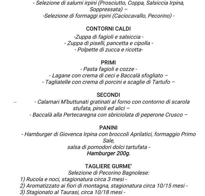 Menù scoppiettante all'Enosteria TaGè a Taurasi (AV) nei giorni 31 gennaio e 1-2 febbraio 2020