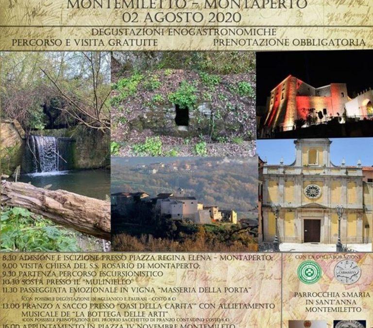 """""""Felix Dies"""" Giornata di cammino tra natura e storia il 2 agosto 2020- Montemiletto, Montaperto"""