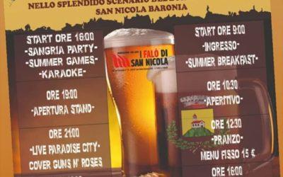 """""""Weekend a tutta birra"""" nei giorni 29 e 30 agosto 2020 nello splendido scenario del Borgo la Fontana di San Nicola Baronia"""