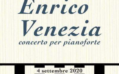 """""""Musica al Castello""""- Concerto per pianoforte del Maestro Enrico Venezia il 4 settembre 2020 a Gesualdo (AV)"""